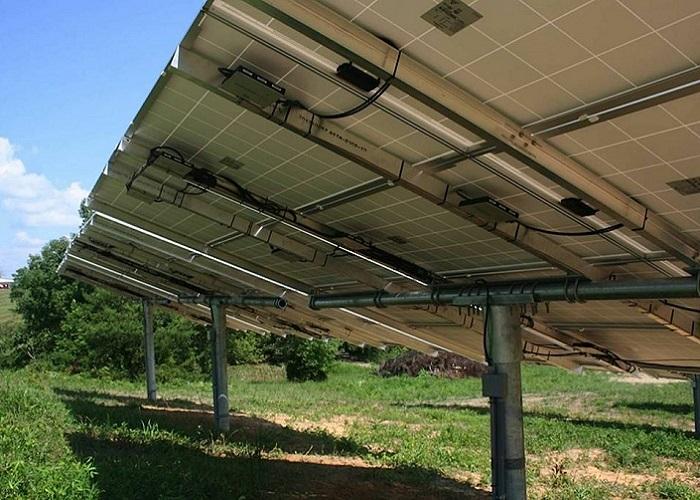solar panel fields